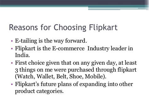 Reason For Choosing Mba by Economic Analysis Of Flipkart Through Various Software