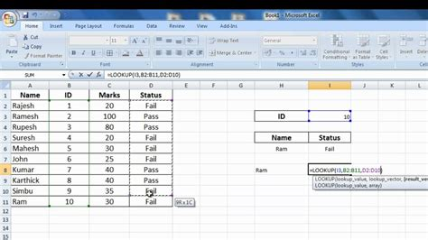 vlookup tutorial youtube in hindi how to use hlookup in excel 2007 youtube excel if lookup