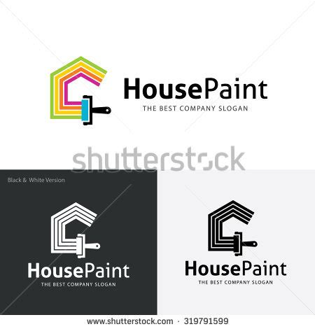 house painter logo painters choicehouse paintrepairpainting servicespainting logohomehousevector logo stock vector