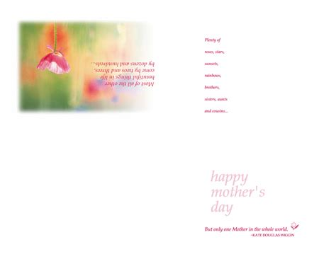 Mothers Day Cards Templates Microsoft Word by S Day Card Ideas Eyfs Free Certificate