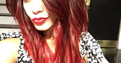 vanessa hudgens dyes her hair red breaking news and vanessa hudgens dyes hair bright red photo us weekly