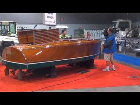 electric runabout boat a day at the boat show edison all electric runabout