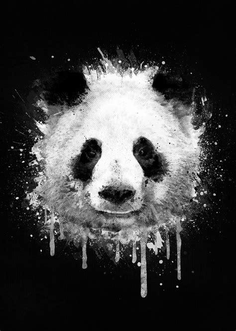 St Pandablack cool abstract graffiti watercolor panda artwork panda graffiti and watercolor