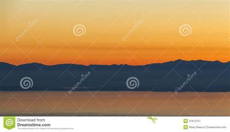 neon orange range mountain sunset stock image image of calm background