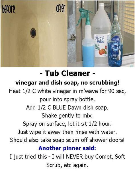 cleaning bathtub with vinegar and baking soda 1000 ideas about blue dawn vinegar on pinterest dawn