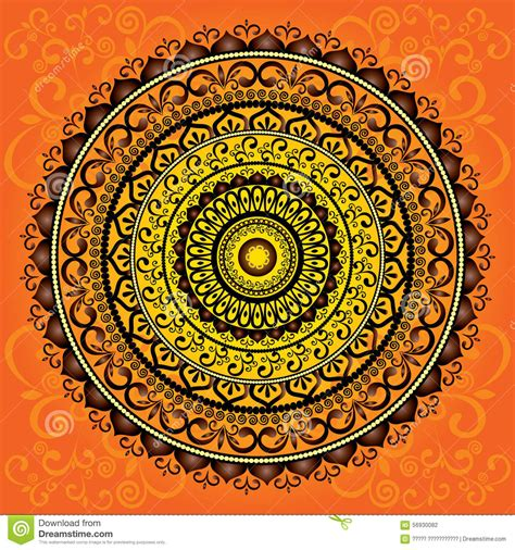 henna tattoo indian culture mandala ornament pattern stock vector image 56930082
