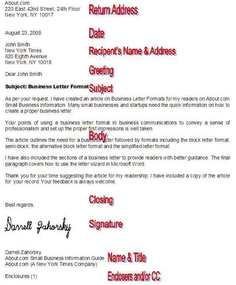 format a professional business letter with these tips