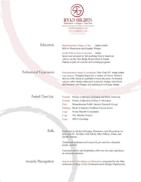 simple effective resume design creative resumes revisited part i 187 graphic design