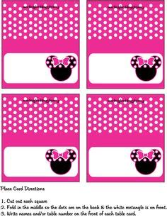 free minnie mouse place card template minnie mouse free printables minnie mouse pink printable