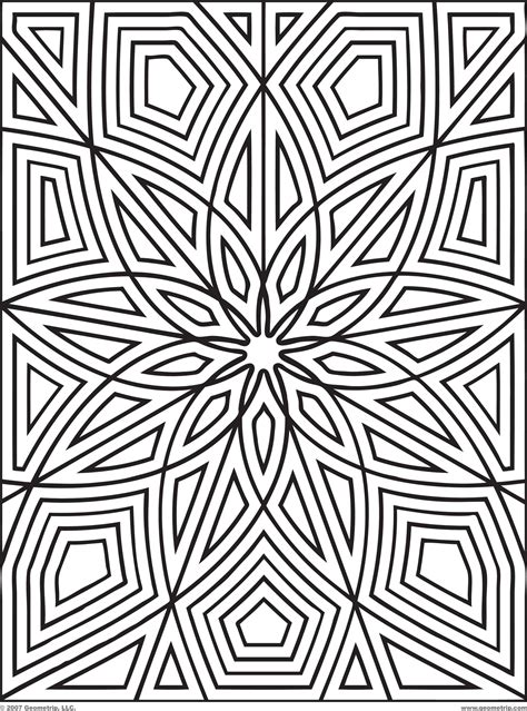 Geometric Design Coloring Pages Geometry Coloring Pages by Geometric Design Coloring Pages
