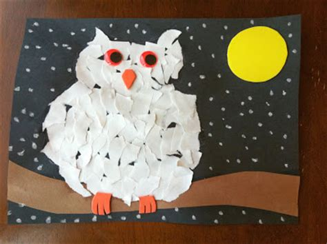 Canon Paper Craft Snowy Owl - ink glue ink and glue