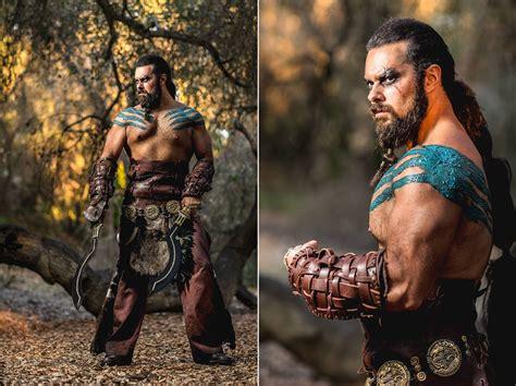 cosplay drene as game of thrones khal drogo nerd reactor