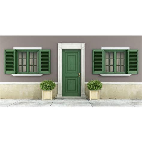 persiana in pvc persiana in pvc profilo retto colore verde effetto legno