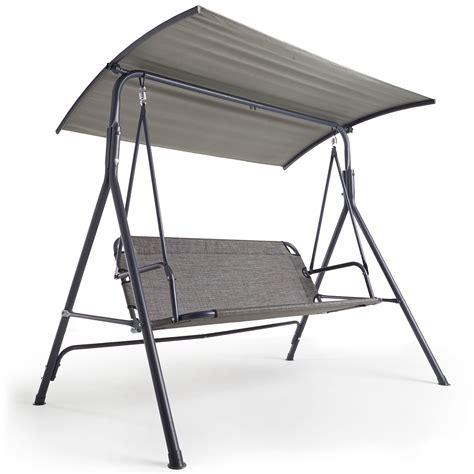 ez swing chair vonhaus 3 seater swing seat with canopy outdoor garden