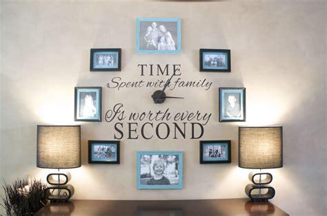 diy family photo wall clock clutterbug me
