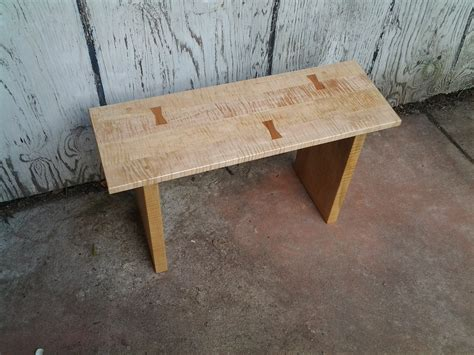 Handmade Bench - handmade wooden edge bench