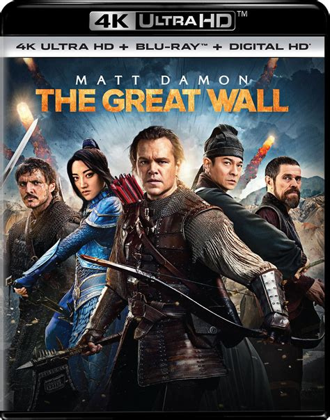 film blu ray uhd the great wall dvd release date may 23 2017