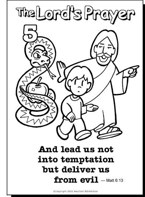 coloring pages for toddlers on prayer lead us not colouring page sunday school prayer