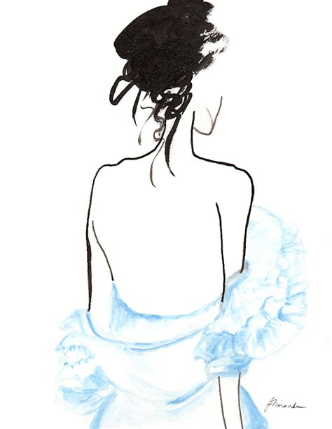 fashion illustration ruffles in the ruffled blouse illustration inspired by