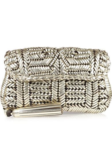 Libertine Woven Leather Clutch By Anya Hindmarch by Anya Hindmarch Rossum Woven Leather Clutch Net A