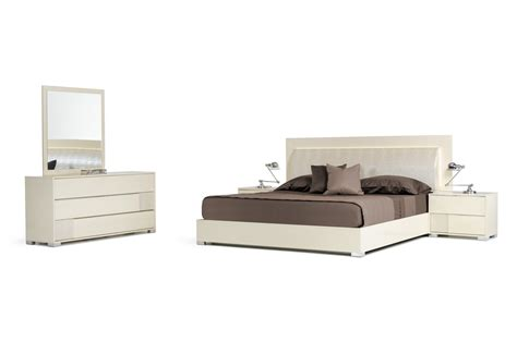 modrest grace italian modern beige bedroom set