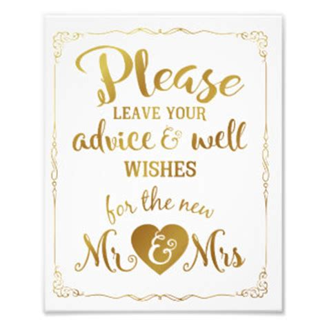 Wedding Wishes Sign by Wedding Wishes Gifts On Zazzle