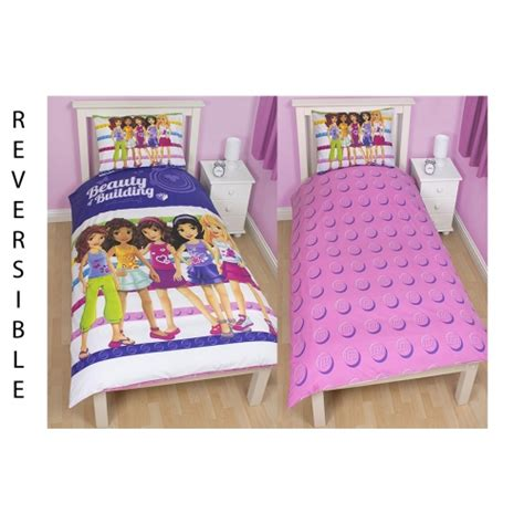 Bed Cover Set Fata And Friends lego friends panel single bed duvet quilt cover set brand new gift ebay