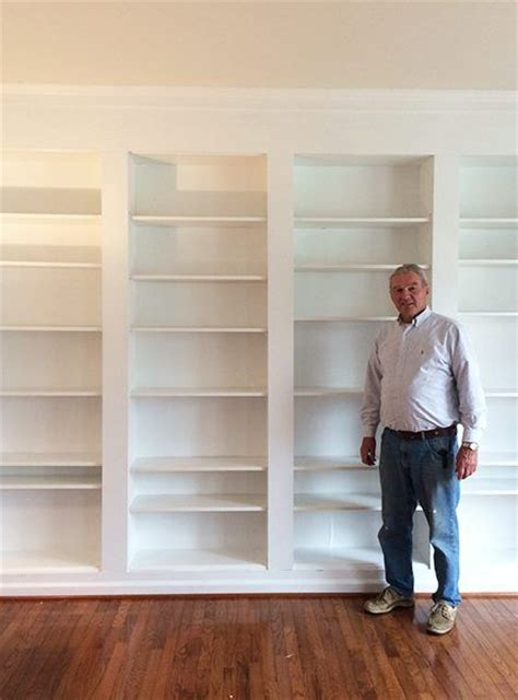 how to build a built in bookcase 25 best ideas about custom bookshelves on