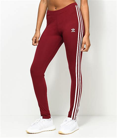 Legging Winter Stripe 3 7 adidas 3 stripe burgundy zumiez