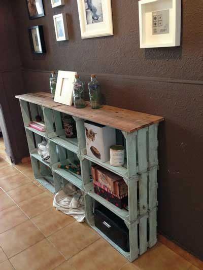 mueble con caja de frutas 20 ideas para decorar con cajas recicladas mil ideas de