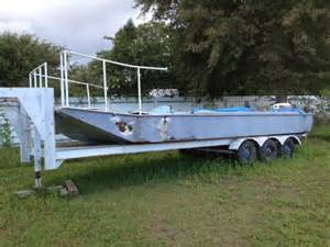 house boat trailers houseboat barge w trailer louisiana sportsman classifieds la