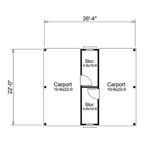 Single Car Carport Size Carport Design Dimensions 187 Woodworktips