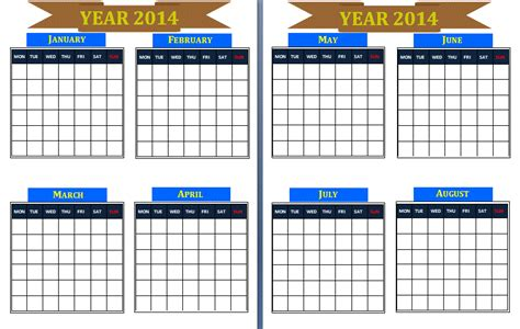 free year calendar template free yearly birthday calendar template calendar template