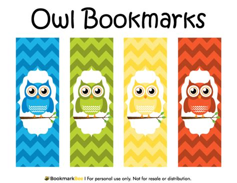 printable bookmarks for books free free printable owl bookmarks download the pdf template at