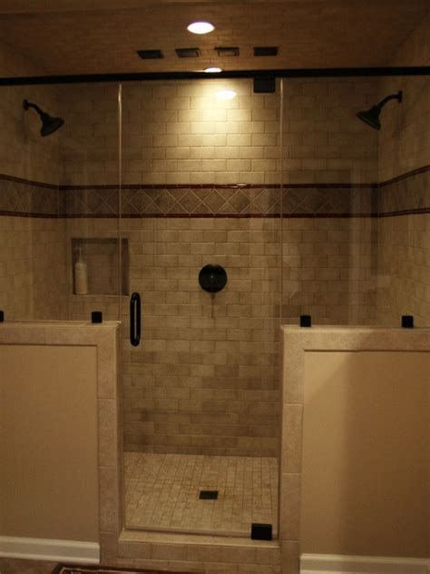 bathroom tile designs pictures double shower heads on pinterest double shower dual