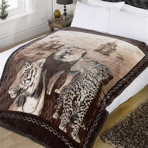 fleece sofa throw blanket dreamscene animal print faux fur large mink throw warm