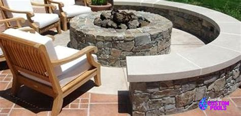 Built In Firepit Outdoor Living Outdoor Kitchen Fireplaces Pits Arbors Pergolas Enclosures Landscape