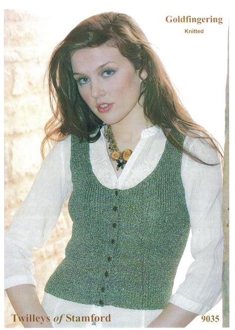 knitting pattern waistcoat twilleys goldfingering knitted waistcoat knitting