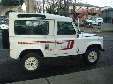 land rover defender diesel 1988 land rover defender 90 turbo diesel csw zombie motors