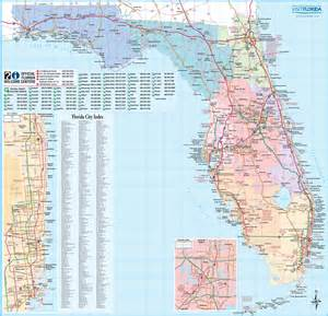 large map of florida cities detailed map of florida my