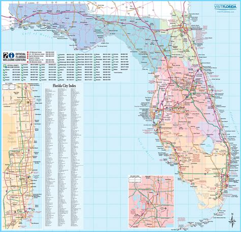 florida detailed map large detailed tourist map of florida