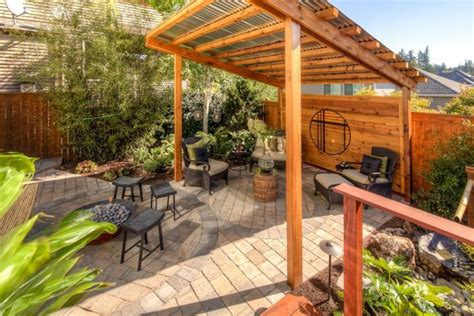 japanese style backyard japanese style backyard with rustic pergola and bamboo