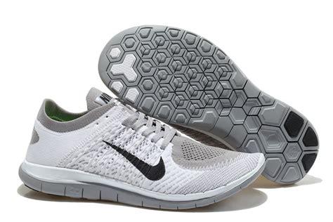 black and grey nike running shoes nike free 4 0 flyknit mens black white grey running