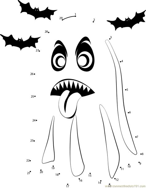 printable halloween dot to dot pictures 13 best images of halloween connect the dots worksheets