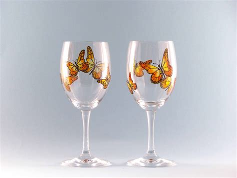wine glass painting hand painted butterfly wine glasses butterfly wine glasses