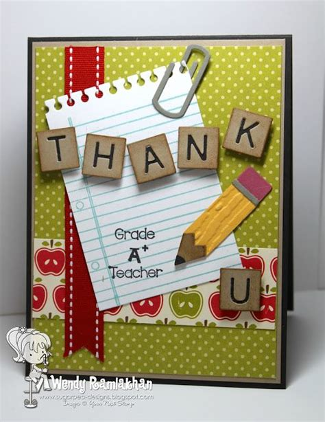 Handmade Card Ideas For Teachers Day - 25 unique cards ideas on thank you