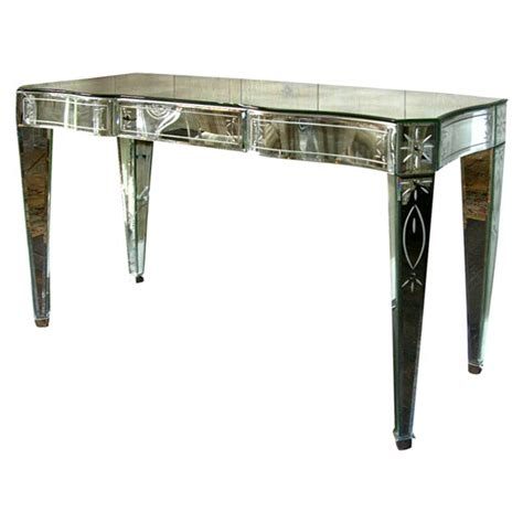 Venetian Mirrored Console Table Venetian Mirrored 3 Drawer Console For Sale At 1stdibs