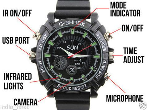 1080p full hd spy watch camera with night vision