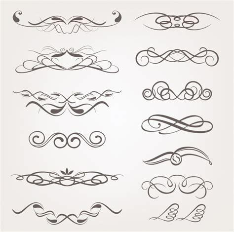 decorative design elements vector free vector calligraphic decorative design elements free vector