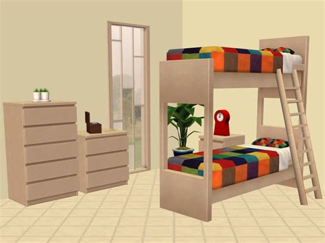 Mod The Sims Ikea Bunk Beds And More 4 Bed Bunk Beds